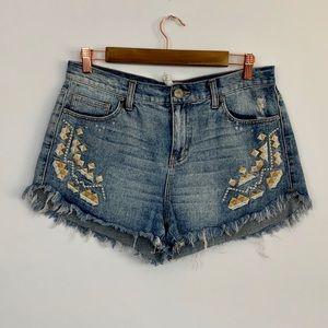 Free People Cutoff Denim Shorts (M2)